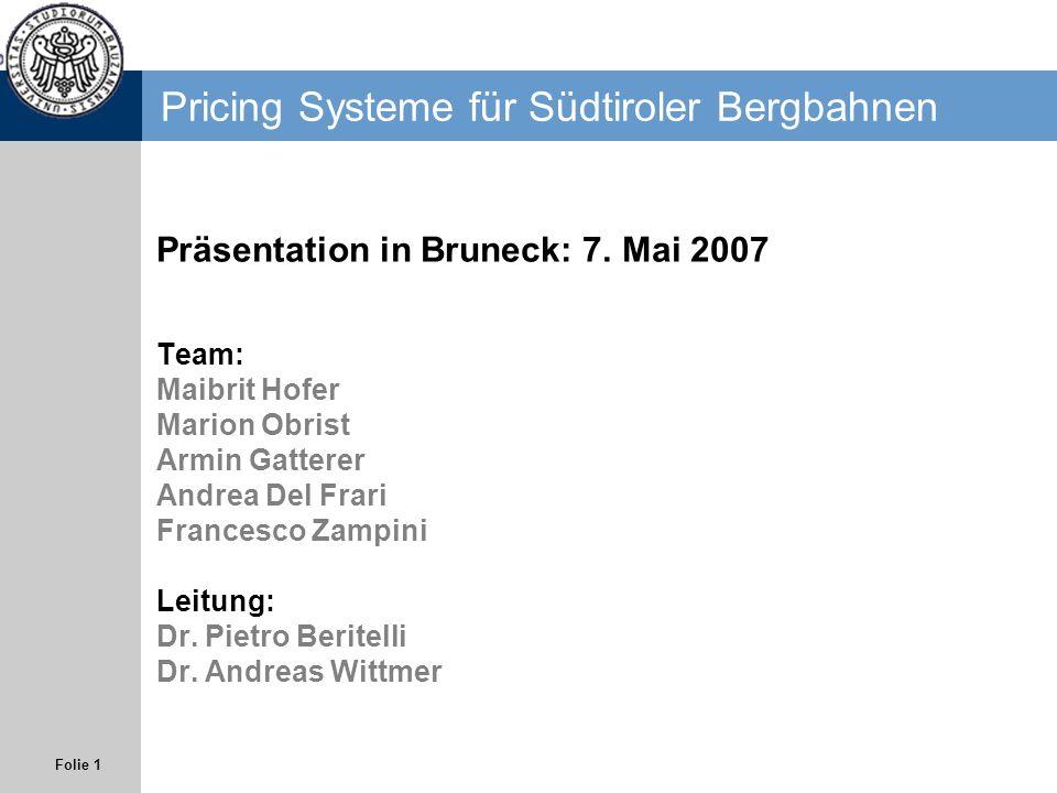 Pricing Systeme für Südtiroler Bergbahnen