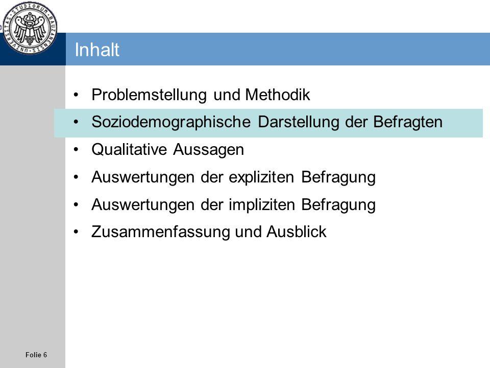 Inhalt Problemstellung und Methodik