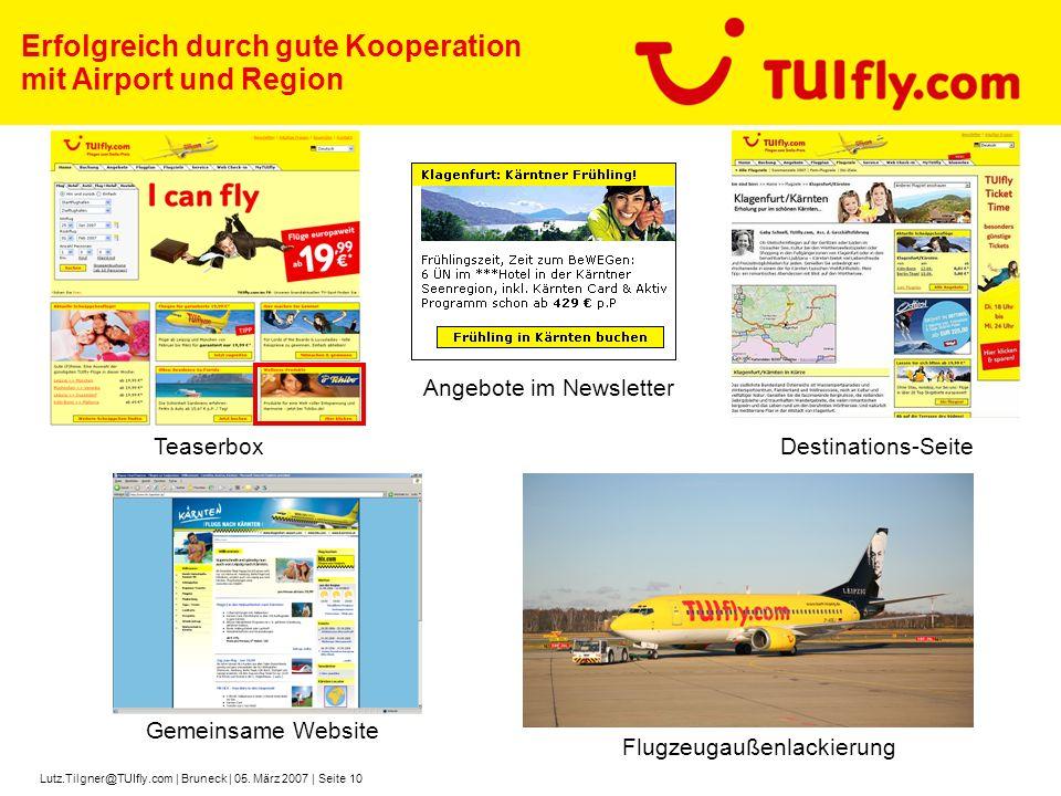 Erfolgreich durch gute Kooperation mit Airport und Region