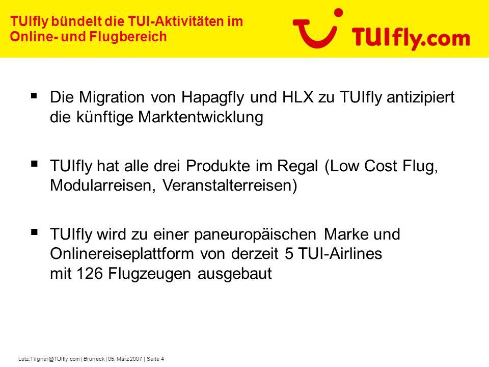 TUIfly bündelt die TUI-Aktivitäten im Online- und Flugbereich