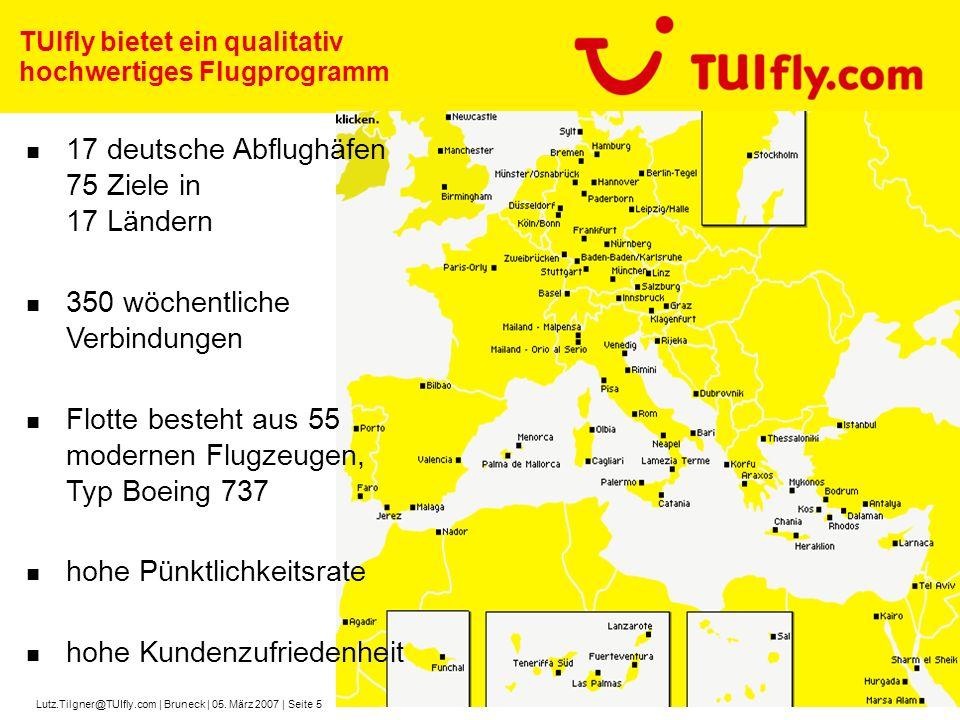 TUIfly bietet ein qualitativ hochwertiges Flugprogramm