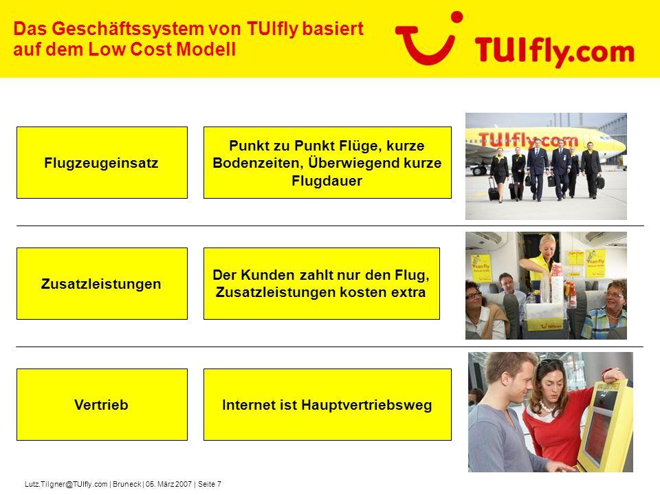 Das Geschäftssystem von TUIfly basiert auf dem Low Cost Modell