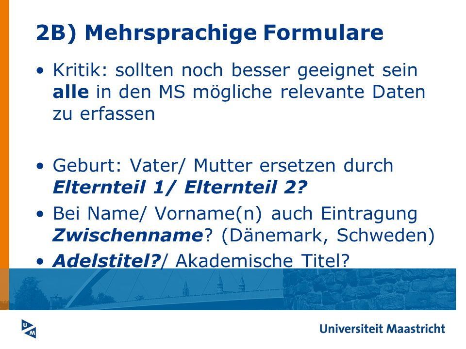 2B) Mehrsprachige Formulare