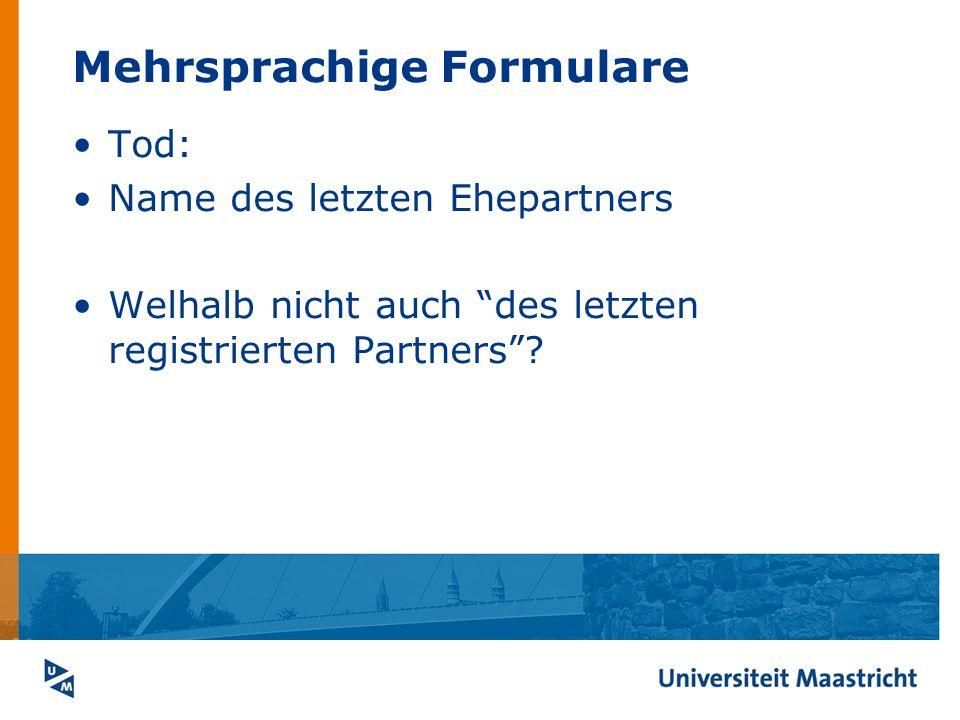 Mehrsprachige Formulare