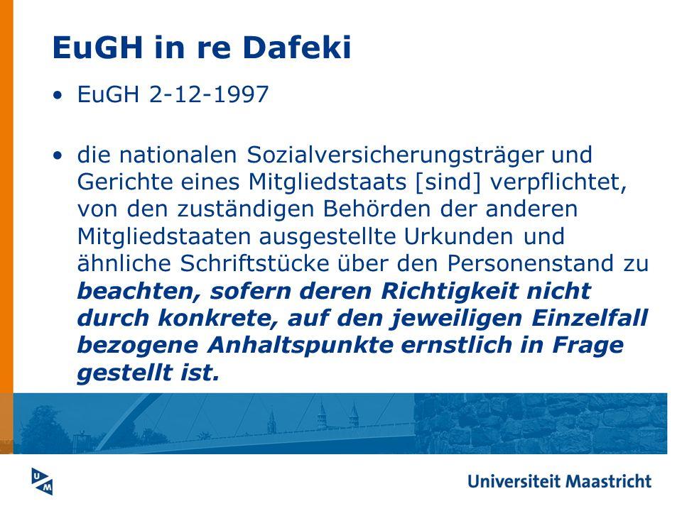 EuGH in re Dafeki EuGH 2-12-1997