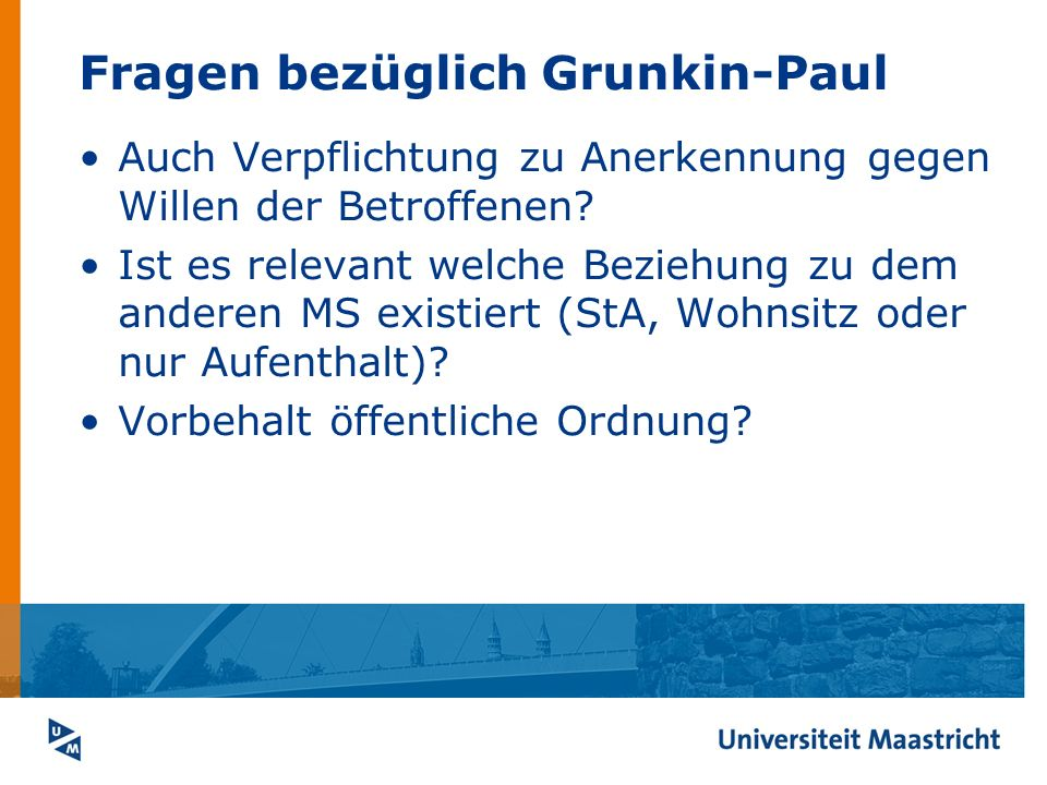 Fragen bezüglich Grunkin-Paul