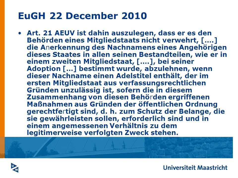 EuGH 22 December 2010