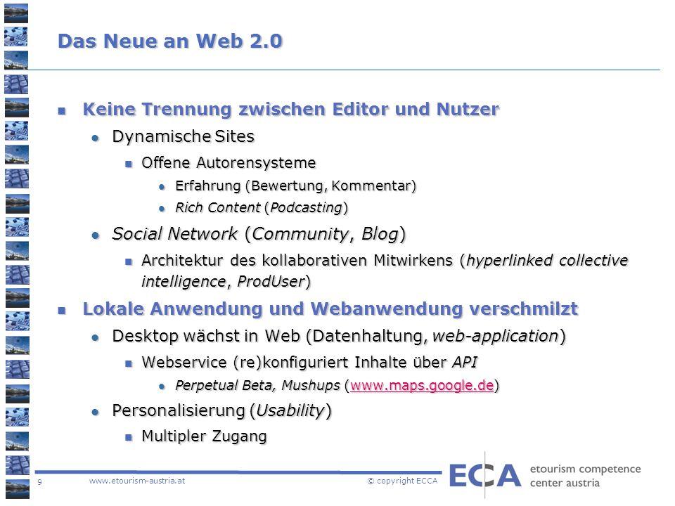 Das Neue an Web 2.0 Keine Trennung zwischen Editor und Nutzer