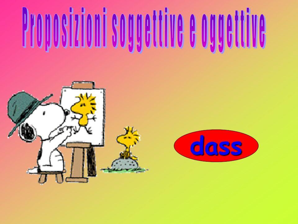 Proposizioni soggettive e oggettive