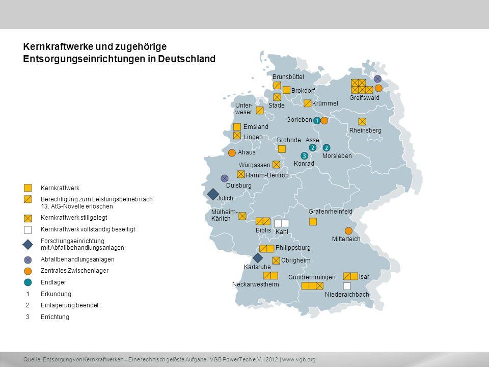 Kernkraftwerke und zugehörige Entsorgungseinrichtungen in Deutschland