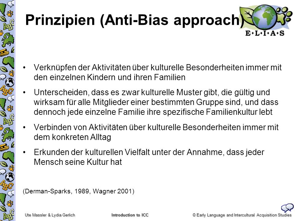 Prinzipien (Anti-Bias approach)