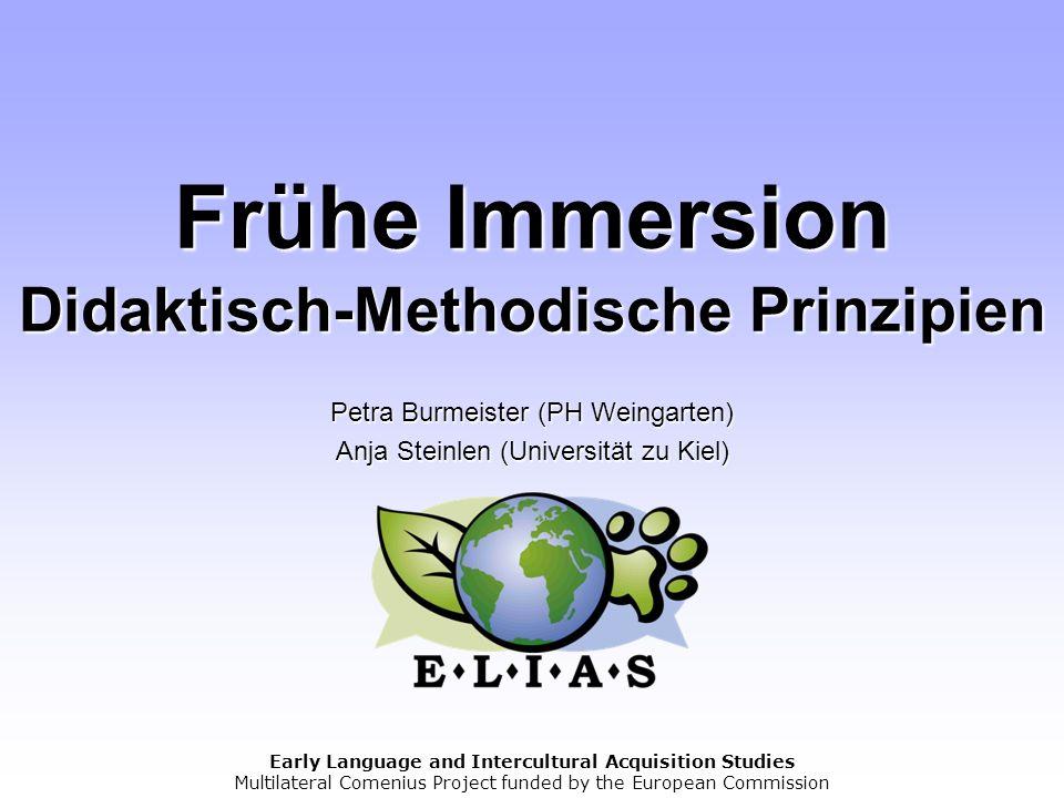 Frühe Immersion Didaktisch-Methodische Prinzipien