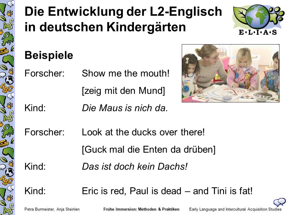 Die Entwicklung der L2-Englisch in deutschen Kindergärten