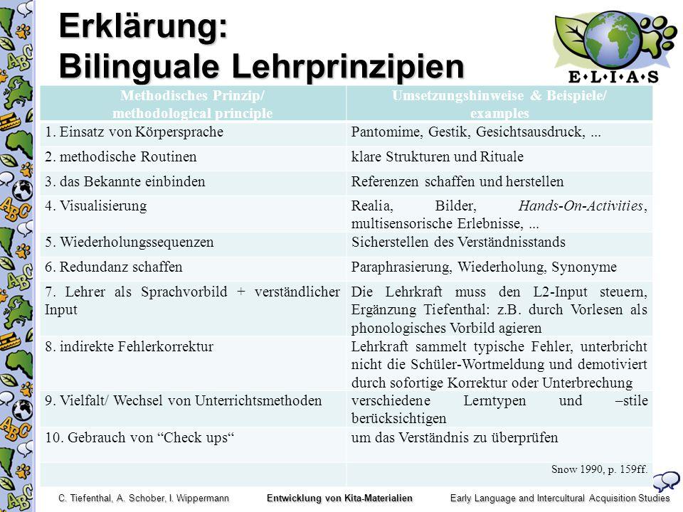 Erklärung: Bilinguale Lehrprinzipien
