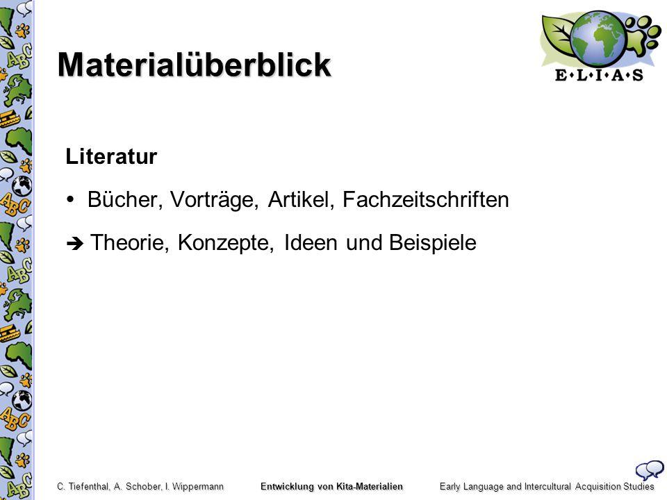 Materialüberblick Literatur  Bücher, Vorträge, Artikel, Fachzeitschriften  Theorie, Konzepte, Ideen und Beispiele
