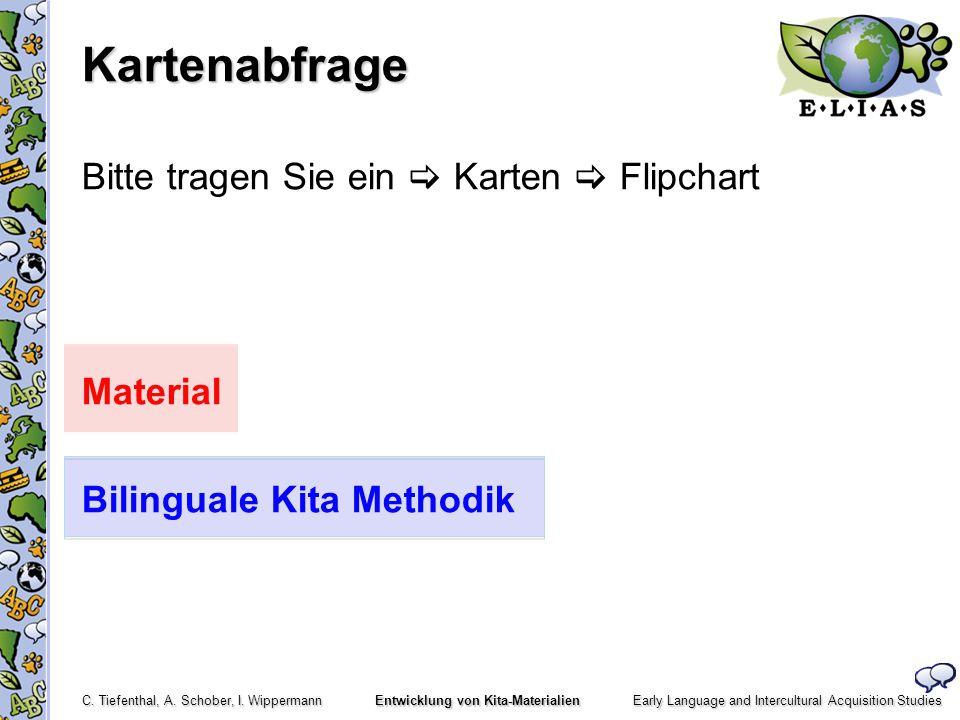 Kartenabfrage Bitte tragen Sie ein  Karten  Flipchart Material Bilinguale Kita Methodik