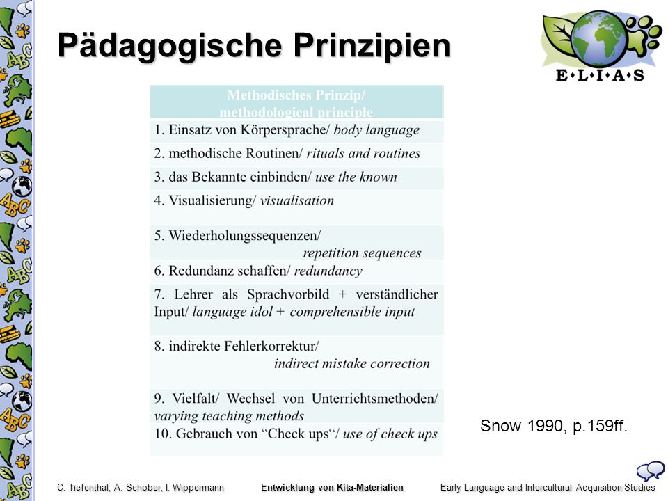 Pädagogische Prinzipien