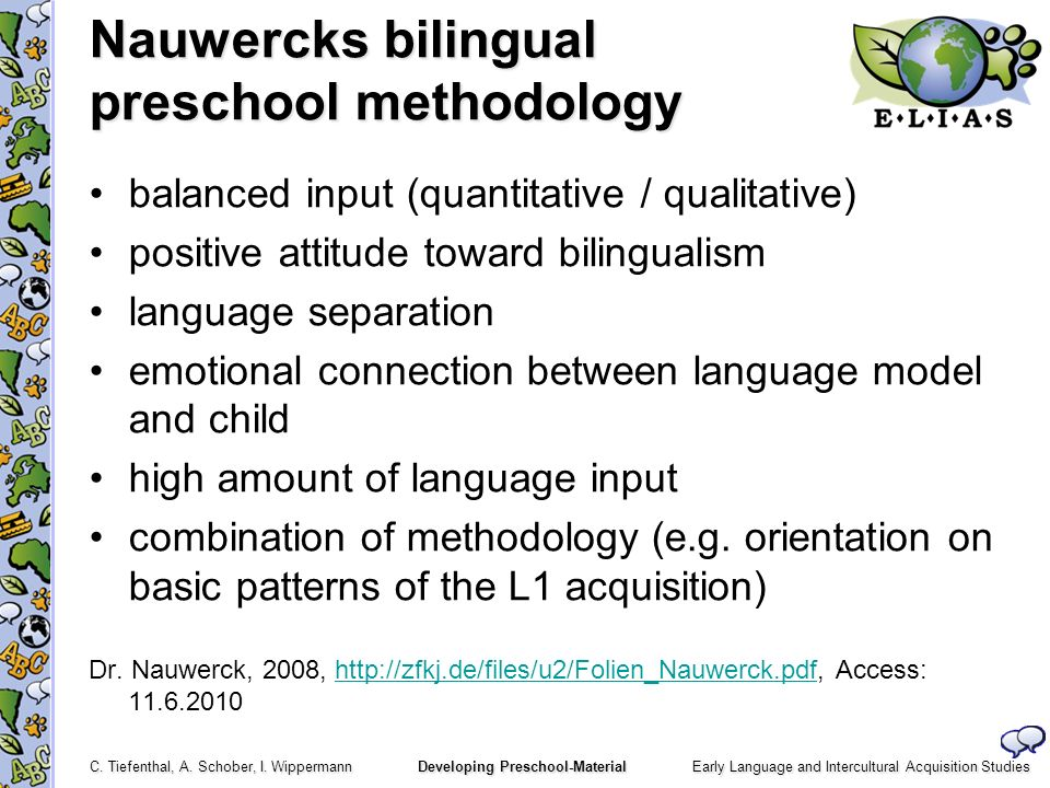 Nauwercks bilingual preschool methodology