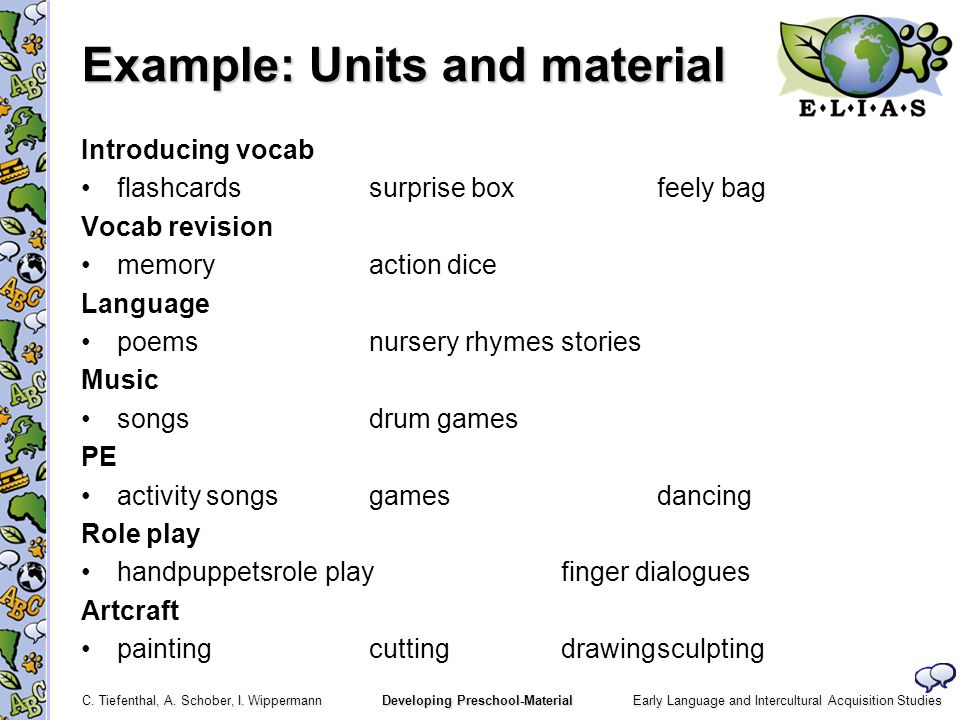 Example: Units and material