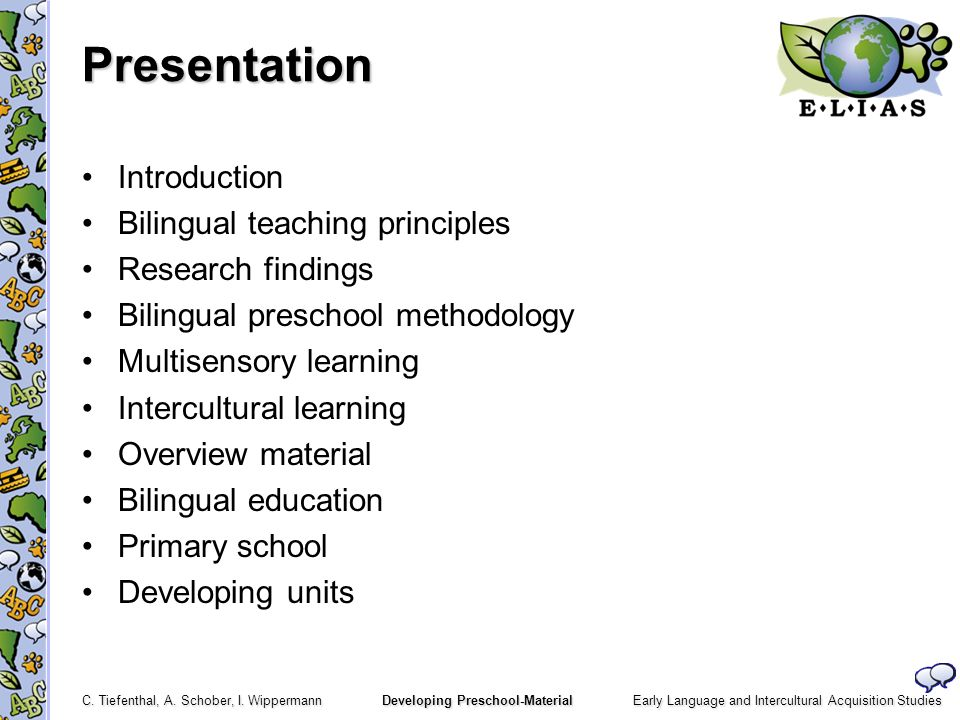 Presentation Introduction Bilingual teaching principles
