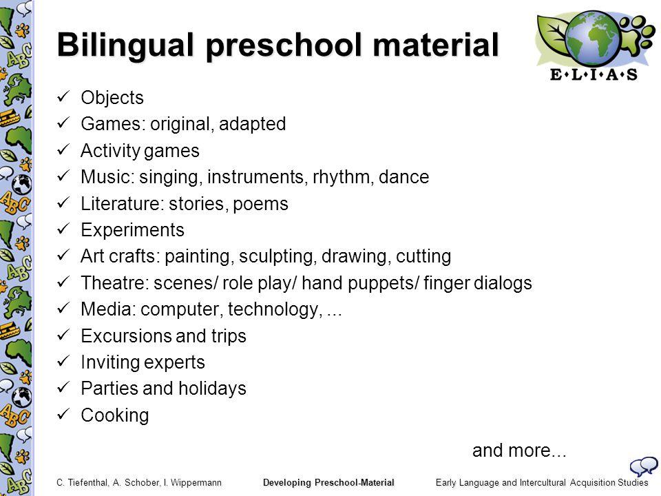 Bilingual preschool material