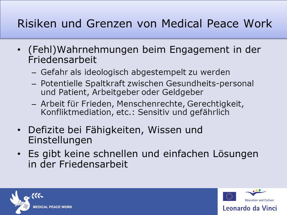 Risiken und Grenzen von Medical Peace Work