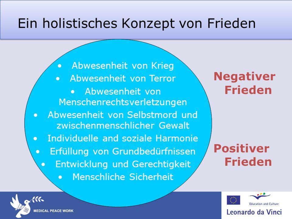 Ein holistisches Konzept von Frieden