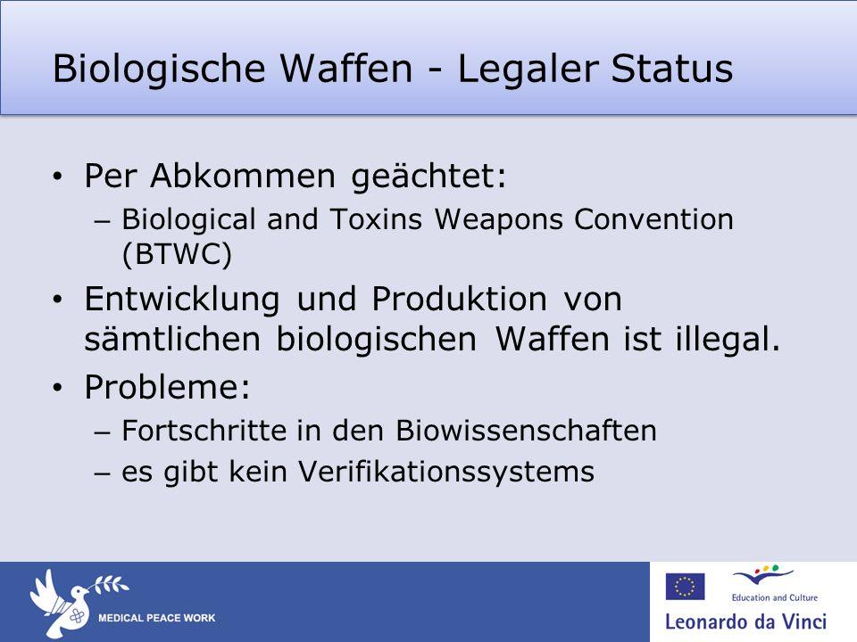Biologische Waffen - Legaler Status