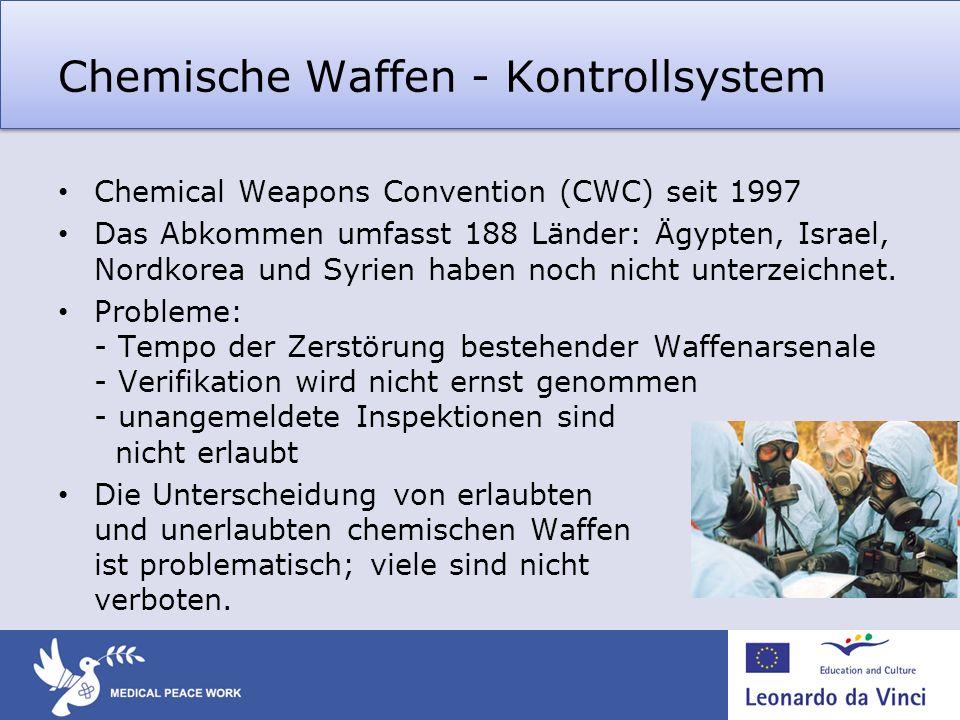 Chemische Waffen - Kontrollsystem