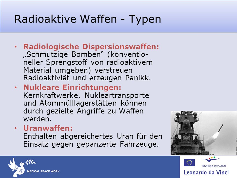 Radioaktive Waffen - Typen