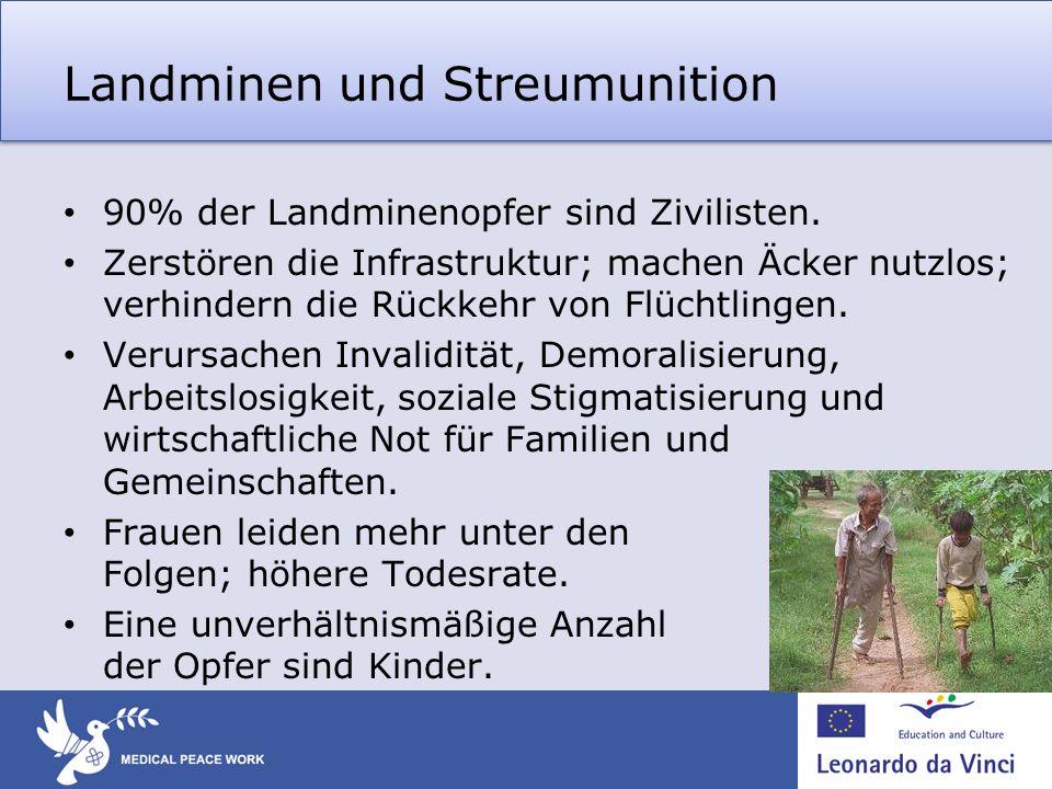 Landminen und Streumunition