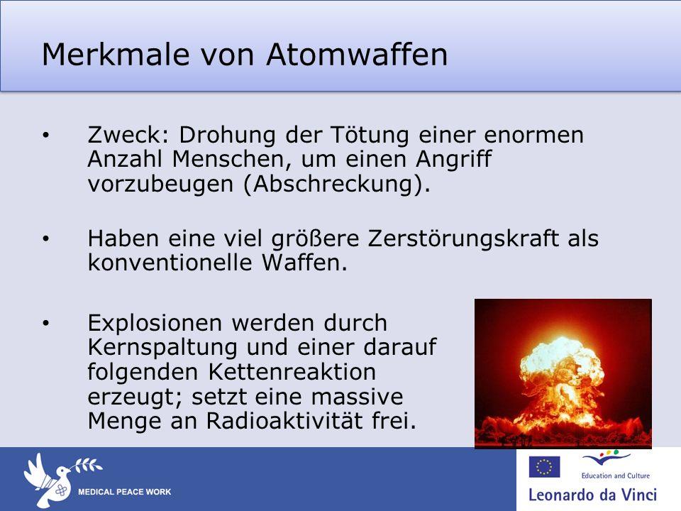 Merkmale von Atomwaffen