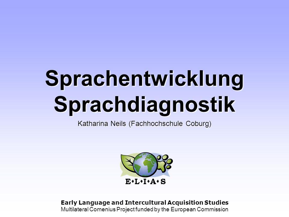Sprachentwicklung Sprachdiagnostik