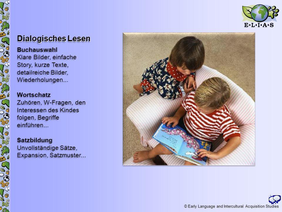 Dialogisches Lesen Buchauswahl Klare Bilder, einfache