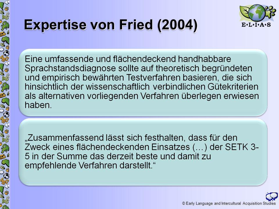 Expertise von Fried (2004)