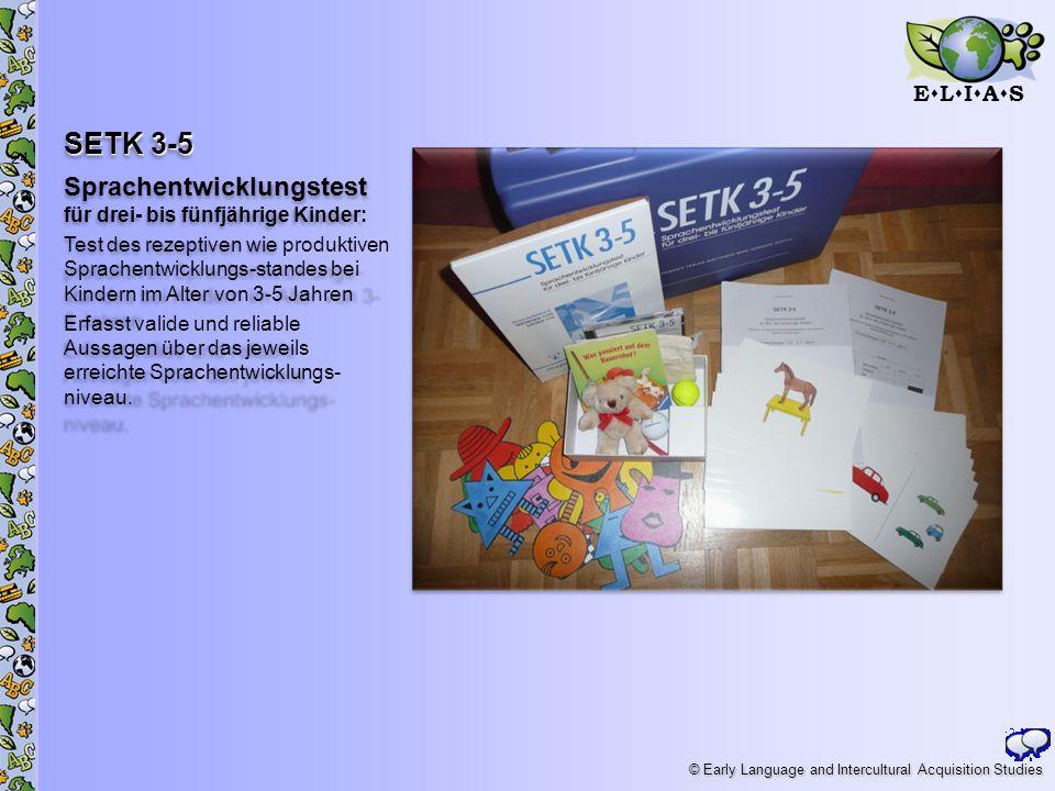 SETK 3-5 Sprachentwicklungstest für drei- bis fünfjährige Kinder: