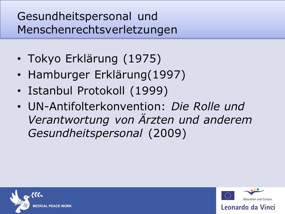 Gesundheitspersonal und Menschenrechtsverletzungen