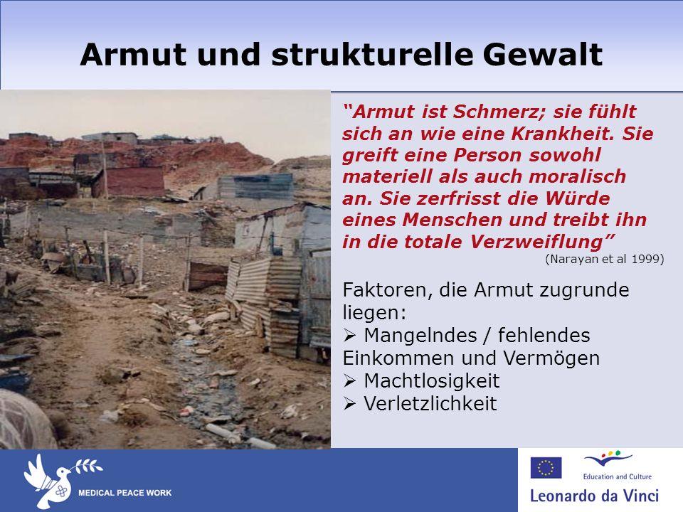 Armut und strukturelle Gewalt