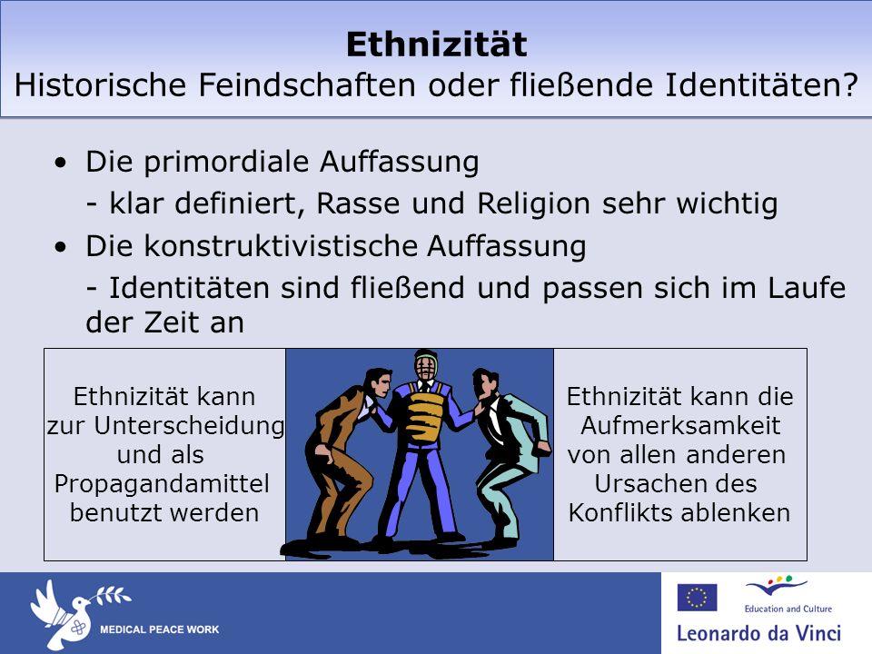Ethnizität Historische Feindschaften oder fließende Identitäten