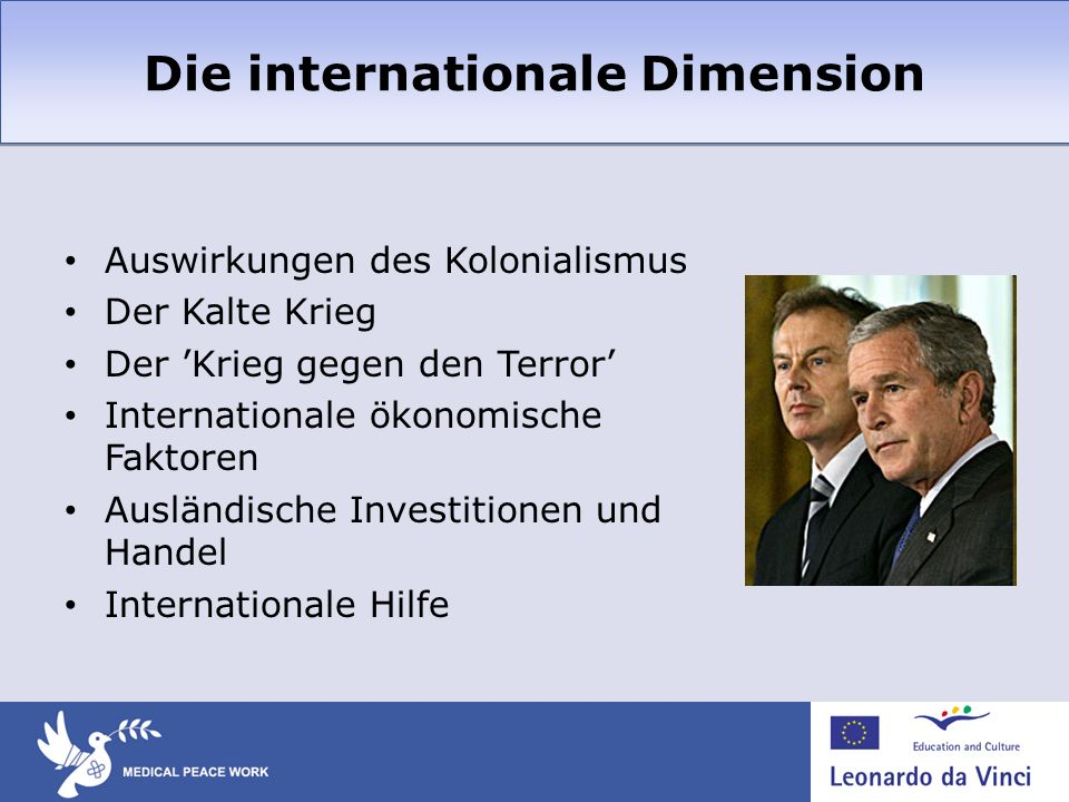Die internationale Dimension