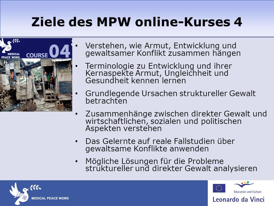 Ziele des MPW online-Kurses 4