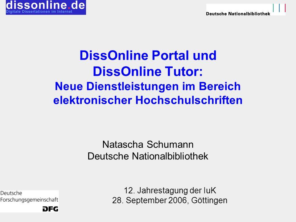 12. Jahrestagung der IuK 28. September 2006, Göttingen