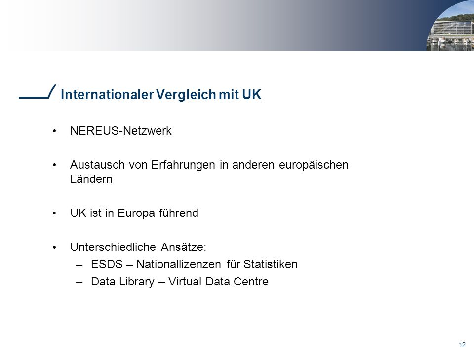 Internationaler Vergleich mit UK