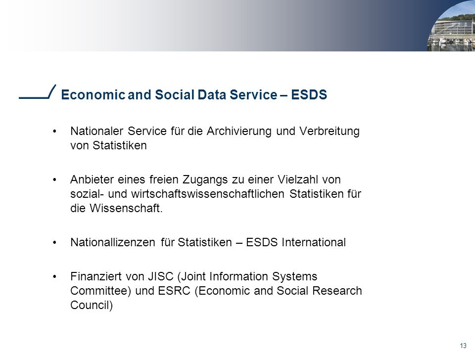 Economic and Social Data Service – ESDS