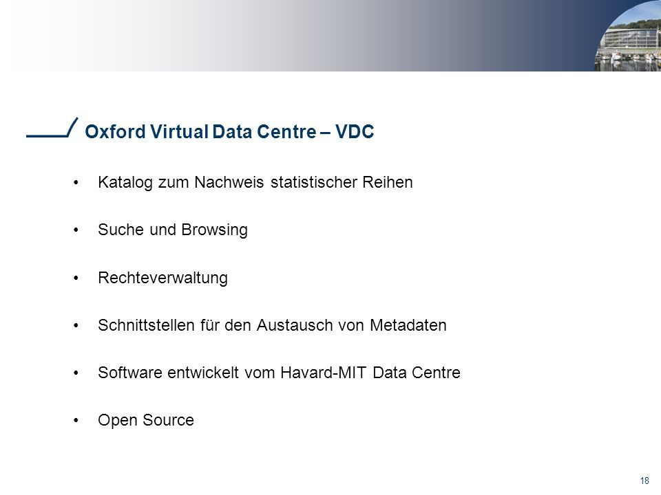 Oxford Virtual Data Centre – VDC
