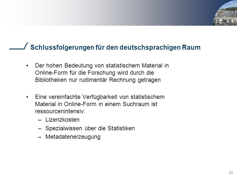 Schlussfolgerungen für den deutschsprachigen Raum
