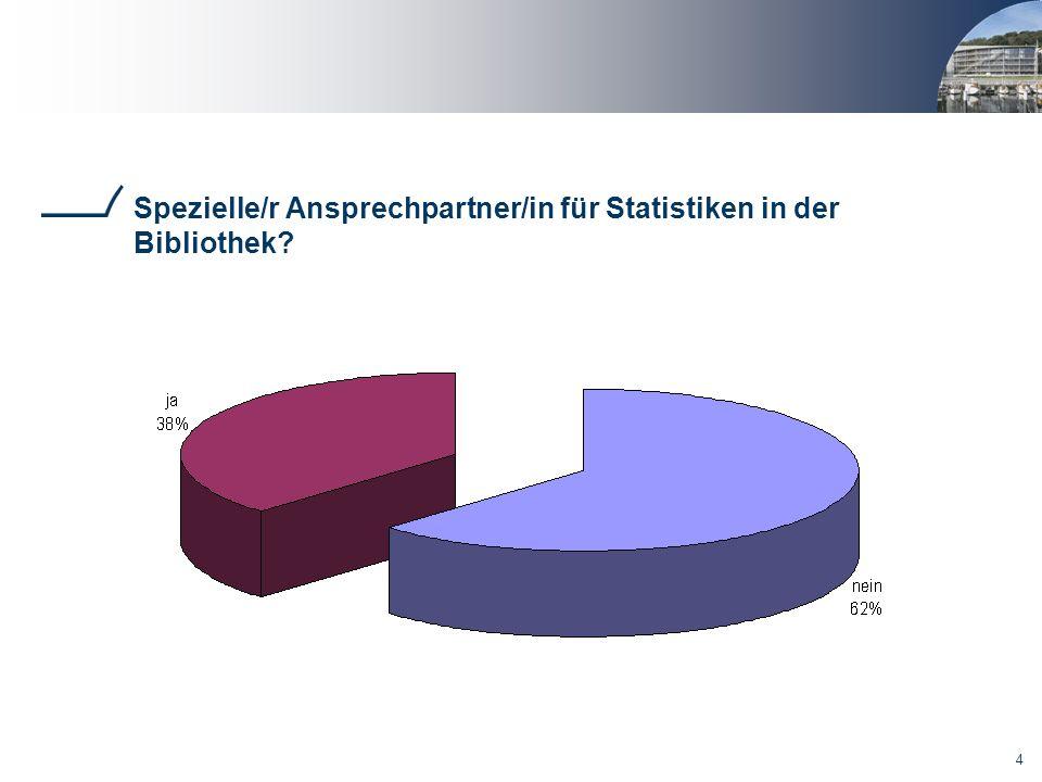 Spezielle/r Ansprechpartner/in für Statistiken in der Bibliothek