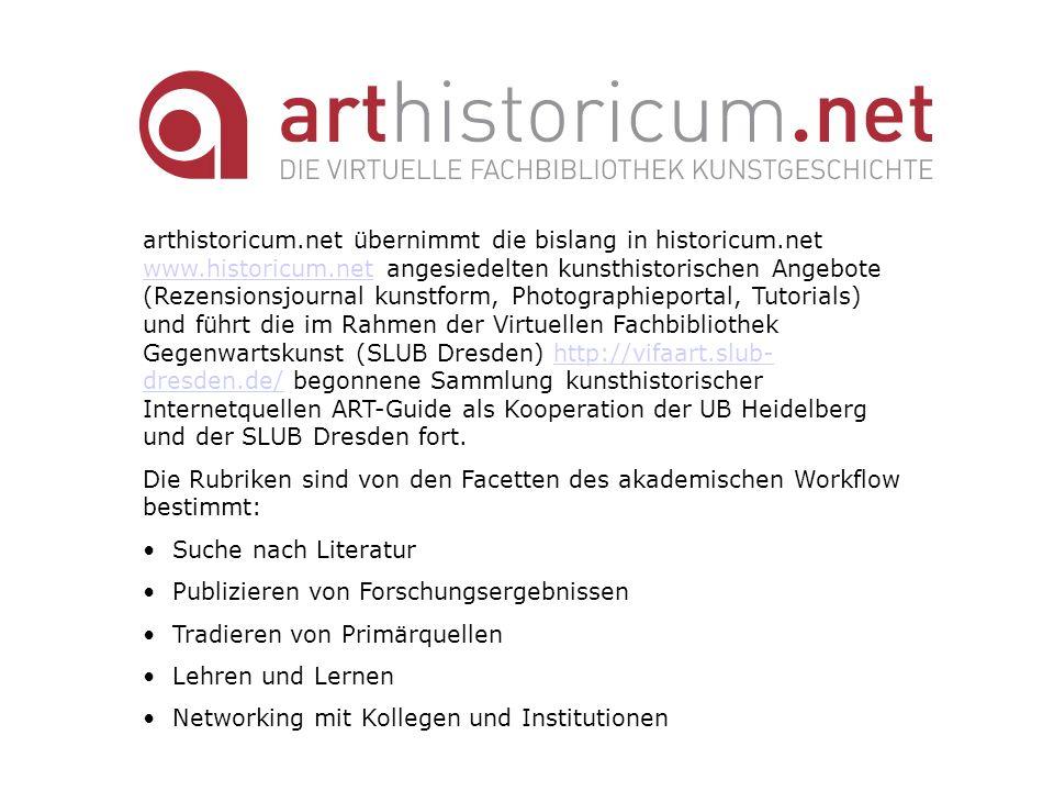 arthistoricum. net übernimmt die bislang in historicum. net www