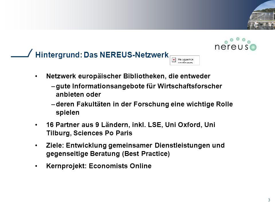 Hintergrund: Das NEREUS-Netzwerk