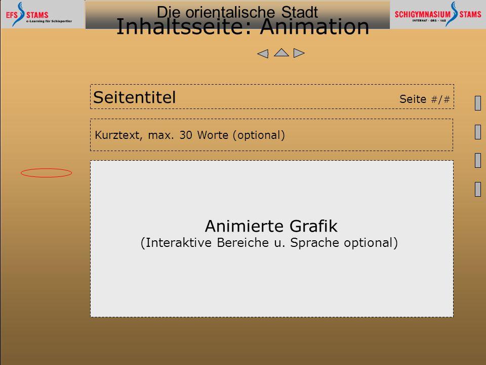 Inhaltsseite: Animation